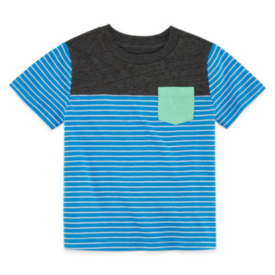 Okie Dokie Short Sleeve Crew Neck T-Shirt-Toddler Boys