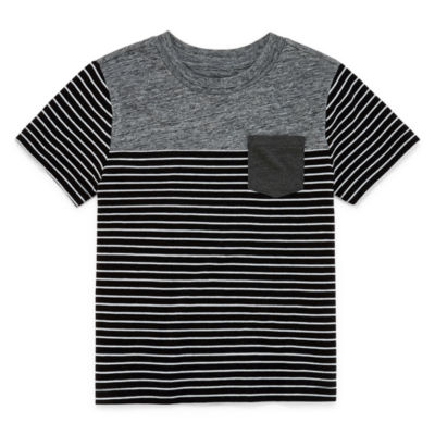 Okie Dokie Short Sleeve Crew Neck T-Shirt-Toddler Boys' 2T-5T
