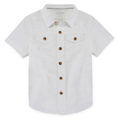 Okie Dokie Short Sleeve Button-Front Shirt Boys 2t-5t