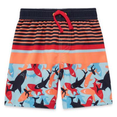 Okie Dokie Shark Swim Trunk-Toddler Boys