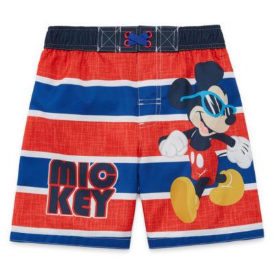 Mickey Mouse Swim Trunks - Toddler Boys