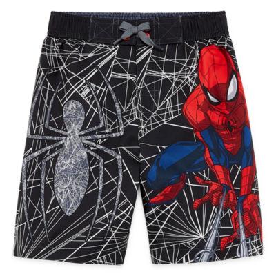 Spiderman Swim Trunks - Preschool Boys 4-7
