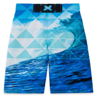 Arizona Photoreal Wave Swim Trunk - Boys 4-20 & Husky