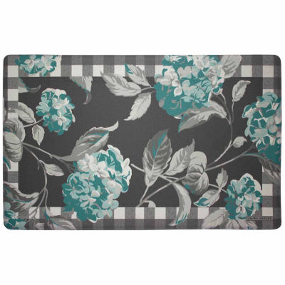 Laura Ashley Hydrangea Anti-Fatigue Gelness Kitchen Mat