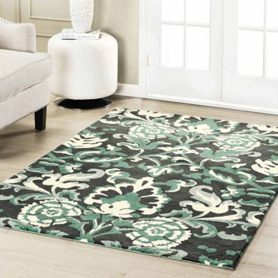 Laura Ashley Penelope Plush Knit Microfiber Rectangular Accent Rug