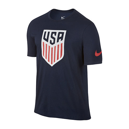 Nike Usa Evergreen Crest Mens Crew Neck Short Sleeve T-Shirt-Athletic