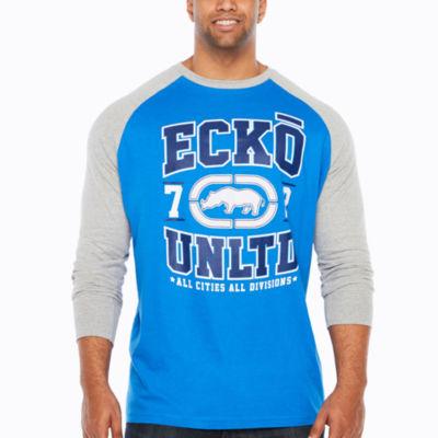 Ecko Unltd Long Sleeve Crew Neck T-Shirt-Big and Tall