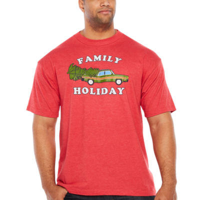 Family Holiday Short Sleeve Graphic T-Shirt-Big and Tall