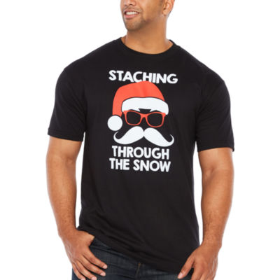 Staching Through The Snow Short Sleeve Graphic T-Shirt-Big and Tall