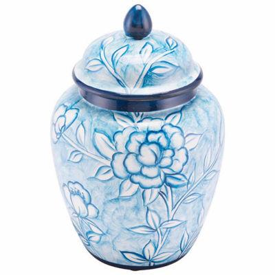 Flower Temple Decorative Jar