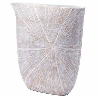 White Poly Decorative Jar