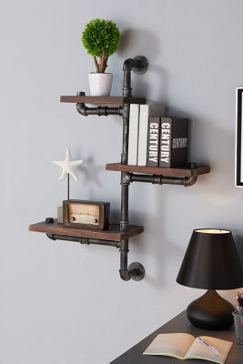 "Armen Living 30"" Orton Industrial Pine Wood Floating Wall Shelf"