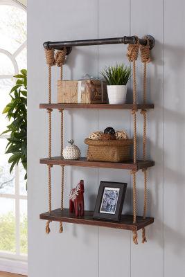 "Armen Living 24"" Brannon Modern Pine Wood Floating Wall Shelf"