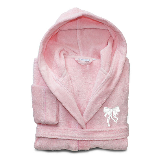 Linum  Kids 100% Turkish Cotton Hooded Terry Bathrobe  - Bow Design