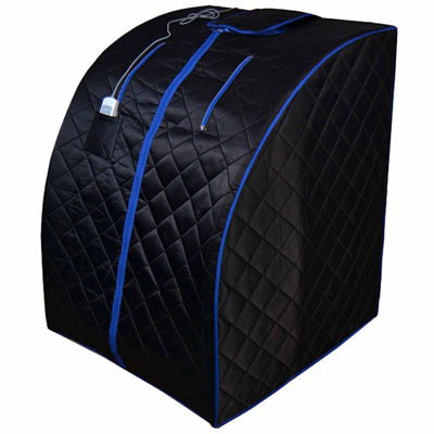 ALEKO Personal Folding Portable Home Infrared Sauna with Folding Chair and Foot Pad
