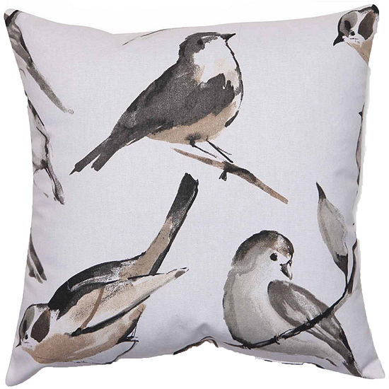 Pillow Perfect Bird Watcher Charcoal Pillow