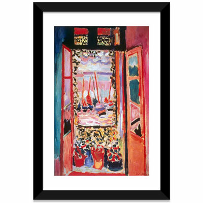 Open Window at Collioure (1905) by Henri Matisse White Framed Fine Art Paper Print