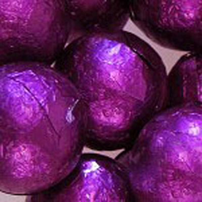 Foiled Solid Milk Purple Balls 1lb
