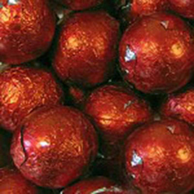 Foiled Solid Milk Red Balls 1lb