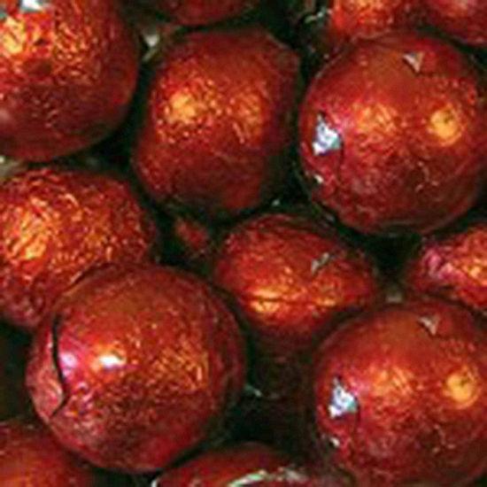 Foiled Solid Milk Red Balls 1lb