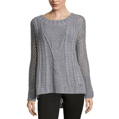 212 NY Textured Cable Pullover Sweater