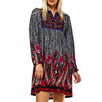 White Mark-Plus Embroidered Sweater Dress