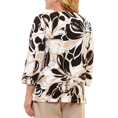 Alfred Dunner Out And About Exploded Floral T-Shirt- Plus