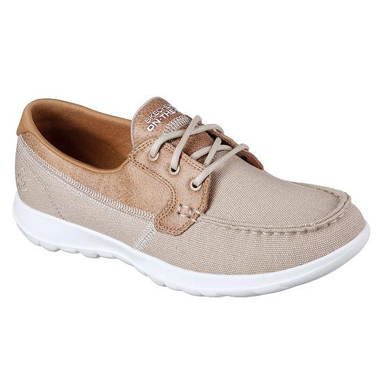 Skechers Womens Go Walk Boat Boat Shoes