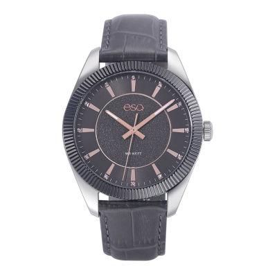 Esq Mens Gray Strap Watch-37esq015301a