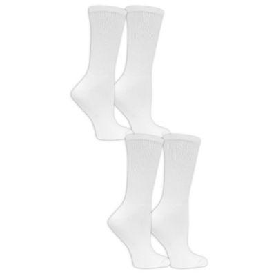 Dr. Scholl's Diabetes And Circulatory 4 Pair Crew Socks - Womens