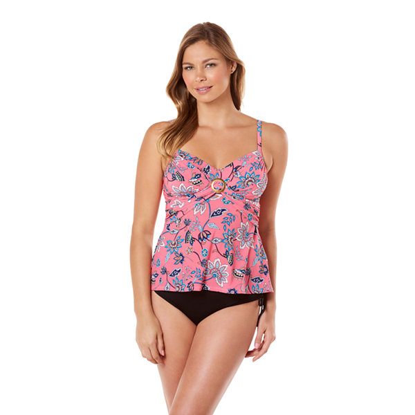 St. John's Bay Floral Tankini Swimsuit Top