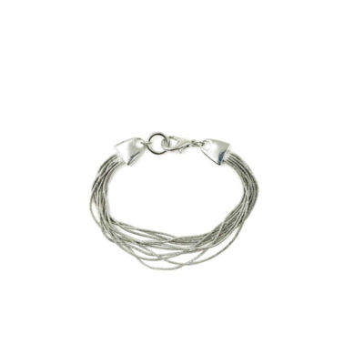 a.n.a Silver Tone Semisolid Snake Chain Bracelet