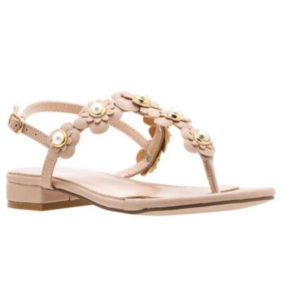 GC Shoes Womens Mabel Adjustable Strap Flat Sandals