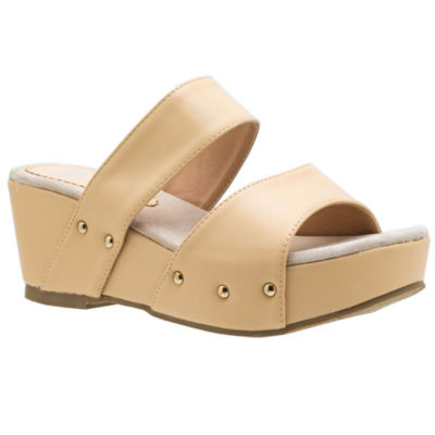 GC Shoes Womens Glenda Wedge Sandals