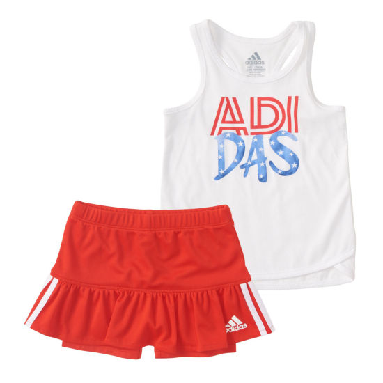 Adidas 2-pc. Skort Set - Baby Girls