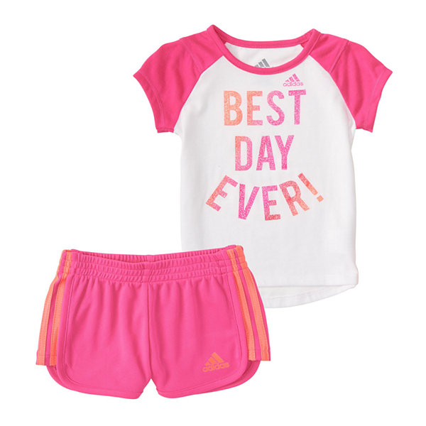 adidas 2-pc. Short Set Baby Girls
