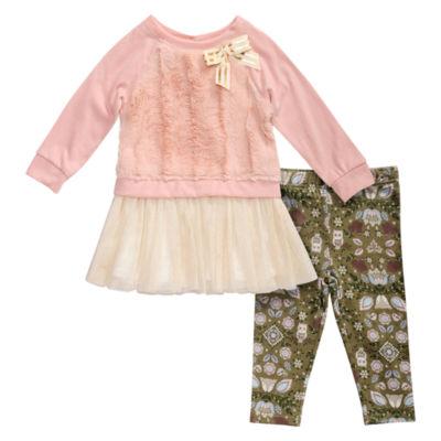 Young Land 2-pc. Legging Set-Toddler Girls