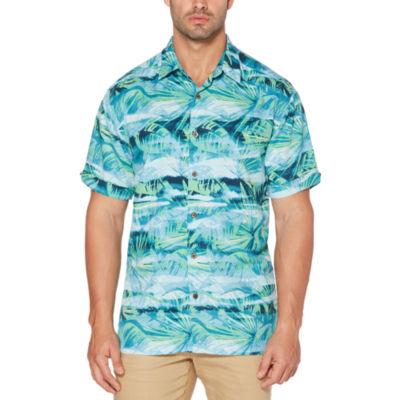 Cubavera Short Sleeve Floral Button-Front Shirt