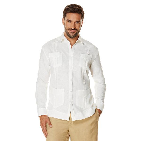 Cubavera 100 Linen Long Sleeve 4 Pocket Guayabera