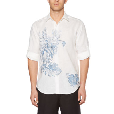 Cubavera Long Sleeve Floral Button-Front Shirt