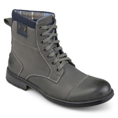 Vance Co Mens Hawes Combat Boots Lace-up