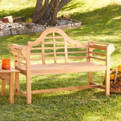 Southern Enterprises Teak Lutyens Patio Bench
