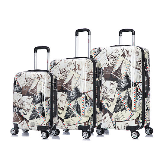 Inusa Prints Lightweight Hardside Spinner 3 Piece Set