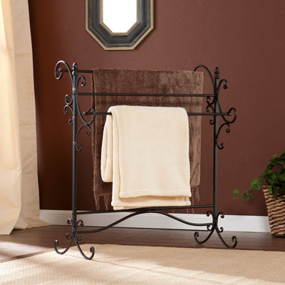 Boyce and Balch  Metal Scroll Blanket Rack