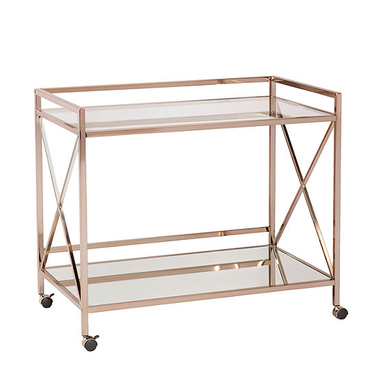 Maxton Metal-Top Serving Cart