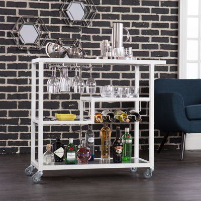 Holly & Martin Zephs Metal-Top Serving Cart