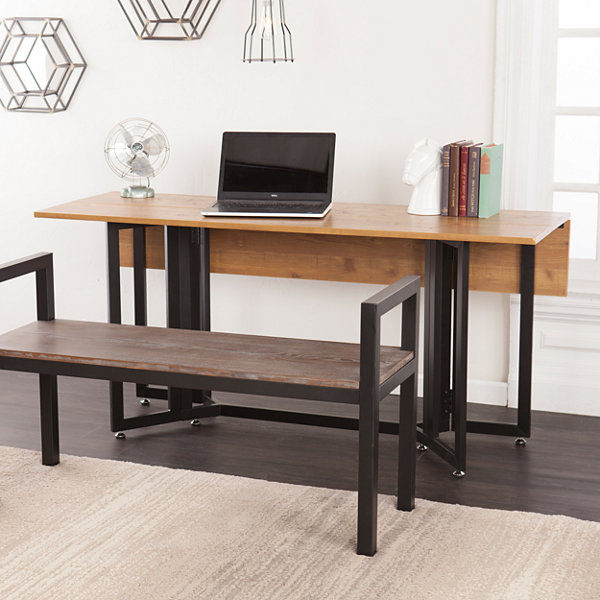 Holly & Martin Driness Drop Leaf Wood-Top Dining Table