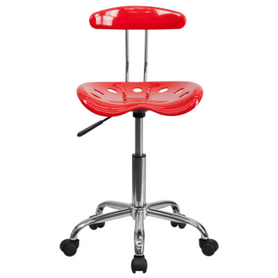Vibrant Colored Swivel Task Chair with Tractor Seat