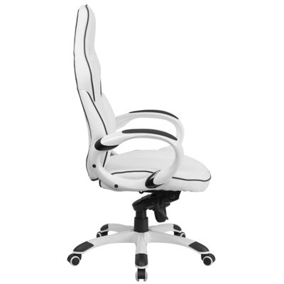 High Back Vinyl Executive Swivel Chair with BlackTrim and Arms
