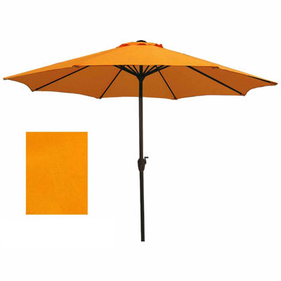9' Outdoor Patio Market Umbrella with Hand Crank and Tilt - Tangerine Orange